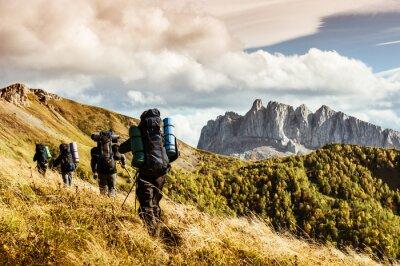 Obraz turystyka w górach