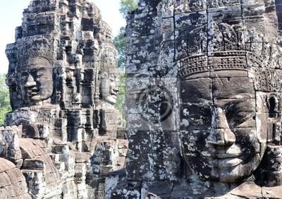 Twarz Bayon w Angkor, Siem Reap, Kambodża.