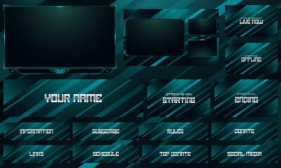 Obraz Twitch Overlay Live Stream template set