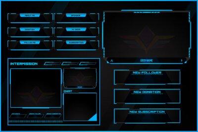 Obraz Twitch Stream overlay design.