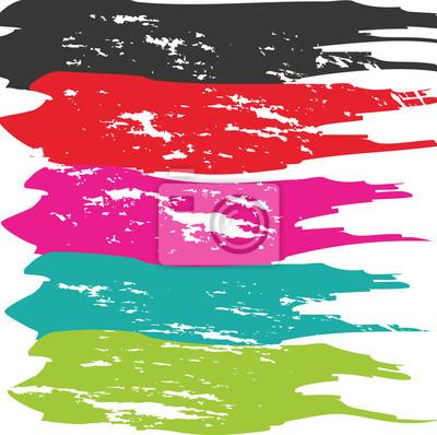 Obraz Udar Grunge Brush. Skok wektor szczotka. Distressed Stroke Brush. Stroke Brush. Nowoczesne Stroke Brush teksturą. Suche Stroke Brush.