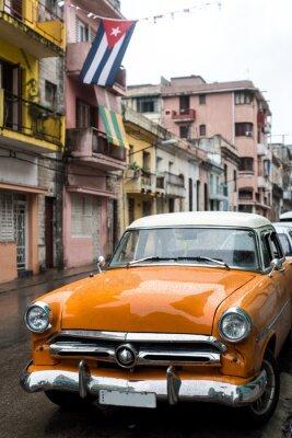 Obraz Ulica sceny na deszczowy dzień w Hawanie, Kuba