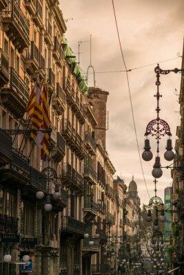 Obraz Ulica w Barcelonie z wielu ulicznych