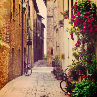 Obraz ulica w Pienza