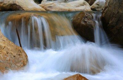 un of mountain river among stones