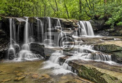 Upper Jonathan Run Falls - park stanowy Ohiopyle, Pennsylvania Laurel Highlands