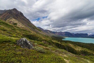 Obraz Upper Twin Lake in Lake Clark National Park in Alaska, United States