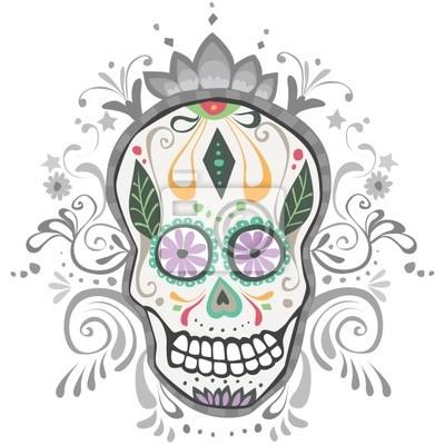 Obraz Urządzone Day of the Dead Sugar Skull