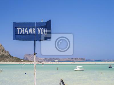 Uwagi na temat flagi na kulki Bay Beach na Krecie