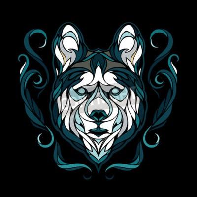 Obraz Vector obraz psa siberian husky
