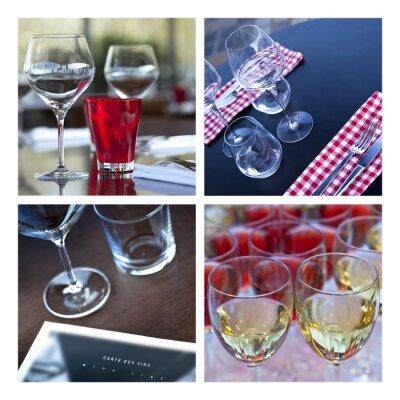 Obraz Verre, verrerie, vin, stół, couvert, bar, bistro, jaskinia