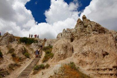 Obraz Views from the Notch Trail, Badlands National Park, South Dakota