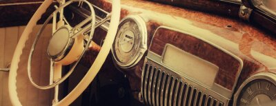 Obraz Vintage car dashboard  (fragment)
