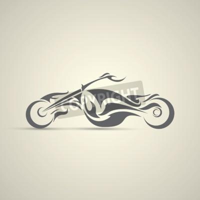 Obraz vintage etykieta motocykl, znaczek, element projektu. abstrakcyjne logo motocykla