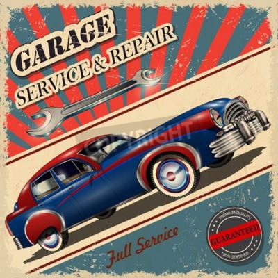 Obraz Vintage garaż retro plakat
