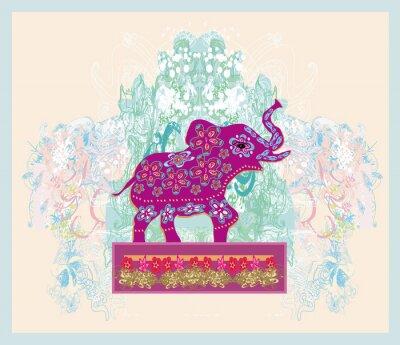 Obraz Vintage Indian ozdoba z słoń