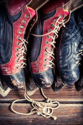 Obraz Vintage łyżwy hokejowe