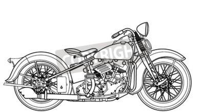 Obraz Vintage motocykla