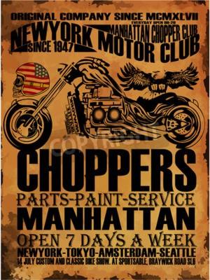 Obraz Vintage Motorcycle T-shirt Graficzne
