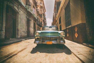Obraz Vintage samochód zaparkowany na ulicy w Hawanie