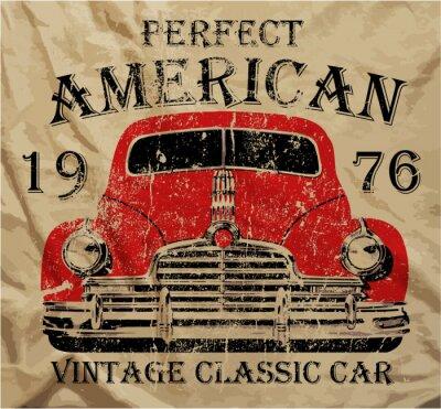 Obraz Vintage starych samochodów Graphic Design T shirt