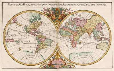 Obraz Vintage World map