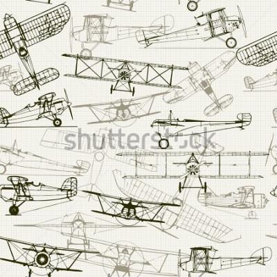 Obraz Vintage wykorzystuje tło. Stylizowany samolotowy skład. tekstura papieru milimetrowego może być metodą. Może być używany do tapet, wypełnień deseni, tła stron internetowych, tekstur powierzchni.
