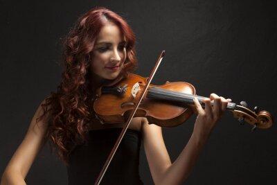 Obraz Violinst Kobieta