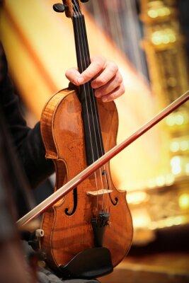 Obraz violon narzędziem odpowietrznik musique classique Symphonique Corde