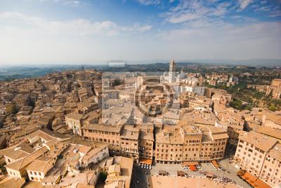Vista aerea di Siena, Piazza del Campo