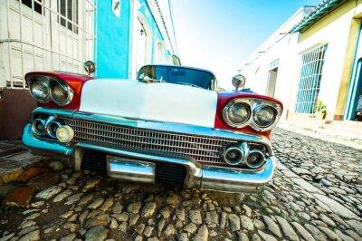 Obraz voiture dans Trynidad petite rue de