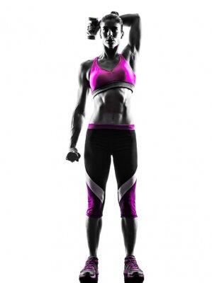 Obraz Wagi kobieta fitness ćwiczenia sylwetkę