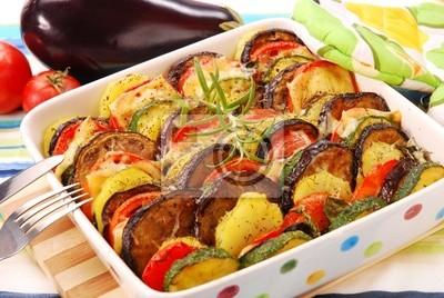 Obraz warzywa zapiekane z serem