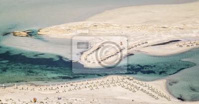 wąskie zatoki w Balos Bay na Krecie