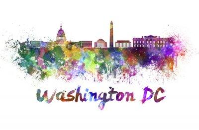 Obraz Waszyngton skyline w akwareli