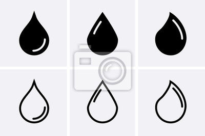 Obraz Water drop Icons