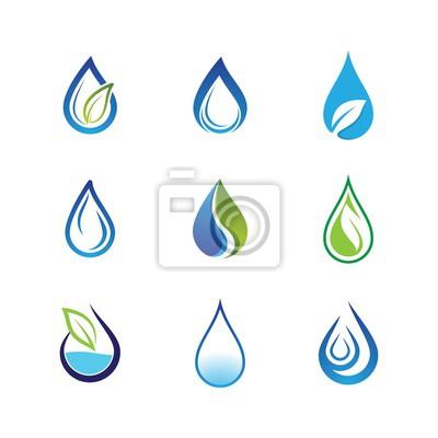 Obraz Water drop vector icon