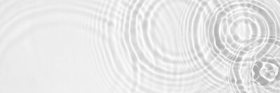 Obraz Water panoramic banner background. White water texture, aqua surface with rings and ripples