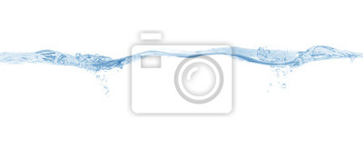 Obraz water splash isolated on white background,beautiful splashes a clean water
