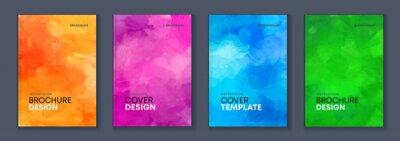 Obraz Watercolor background A4 booklet colourful cover bundle set