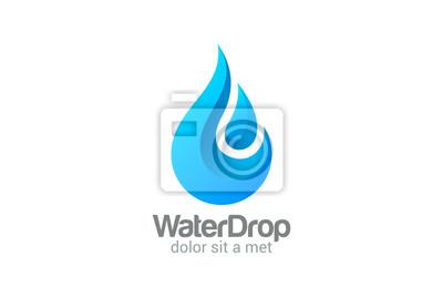 Obraz Waterdrop wektorowych projektowanie logo. Jasne dropplet Woda