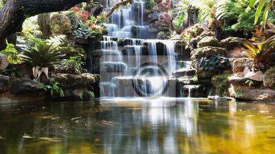 Obraz waterfall in japanese garden