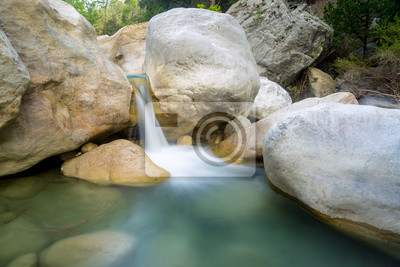 waterfall on river in mountains