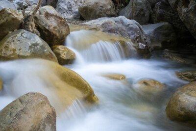 watrefall on mountain river