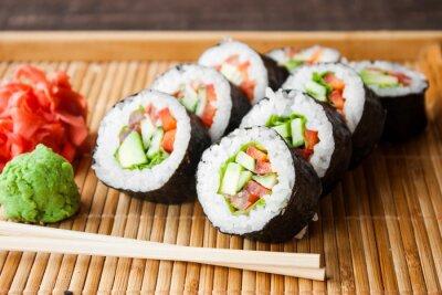 Obraz wegetariańskie sushi
