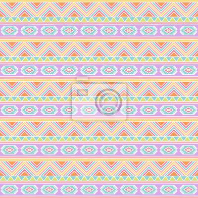 Obraz Wektor bez szwu tła tileable Tribal Style w pastelowych