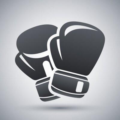 Obraz Wektor ikona rękawice bokserskie