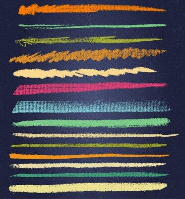 Obraz wektor linii kredy lub szczotki