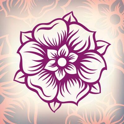 Obraz wektor rocznika barokowy kwiat grawerowanie
