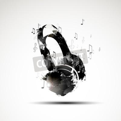 Obraz Wektor tła abstrakcyjna akwarela słuchawkowe